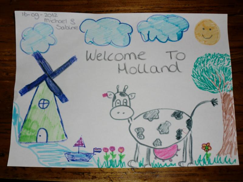 Onze tekening in ons voor ons hostel.